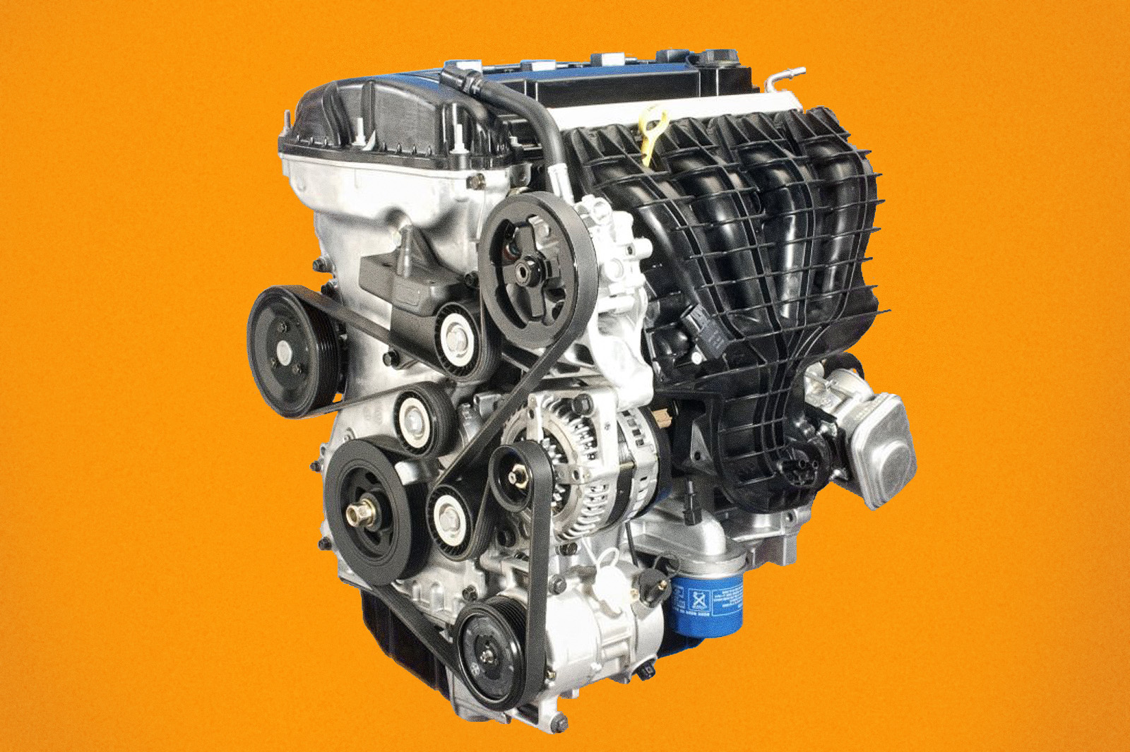 Двигатель со стороны навесного оборудования