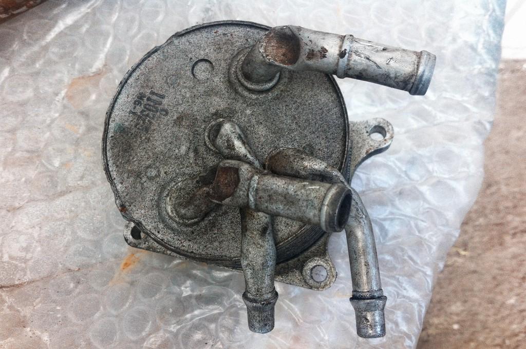 Загиб трубок маслоохладителя вариатора