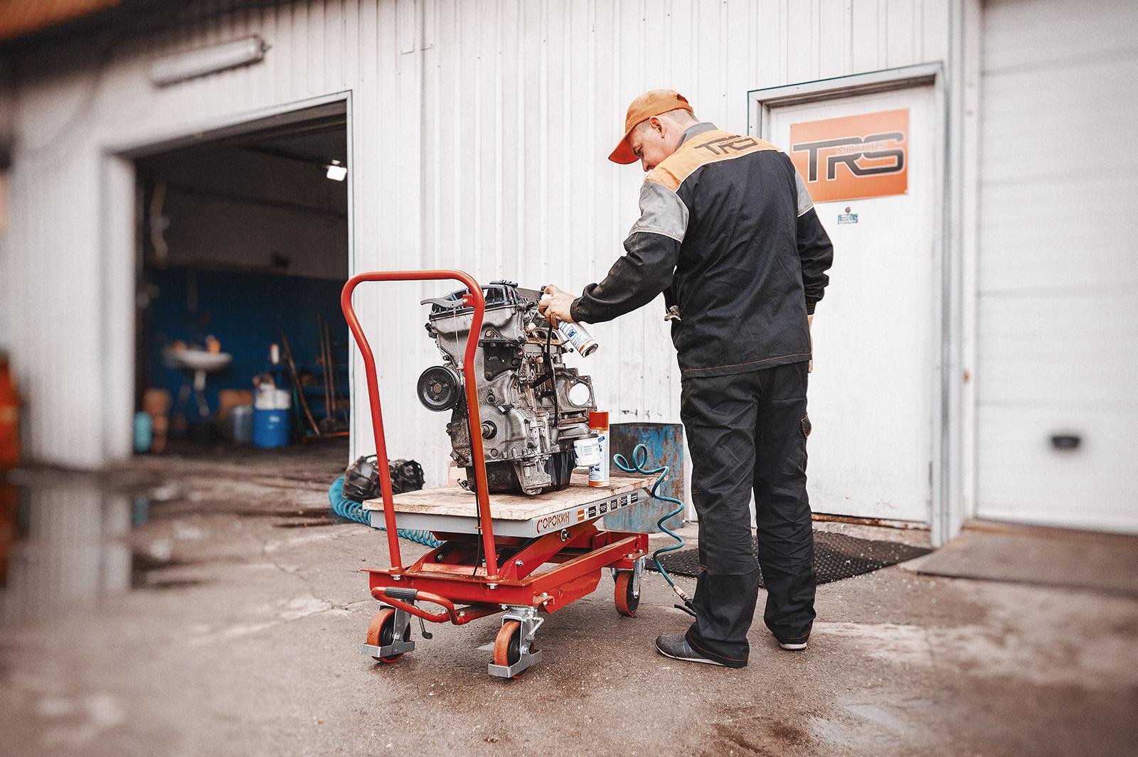 Отмываем двигатель с разборки перед установкой