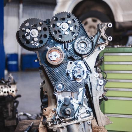 Переставляем защиту со старого двигателя