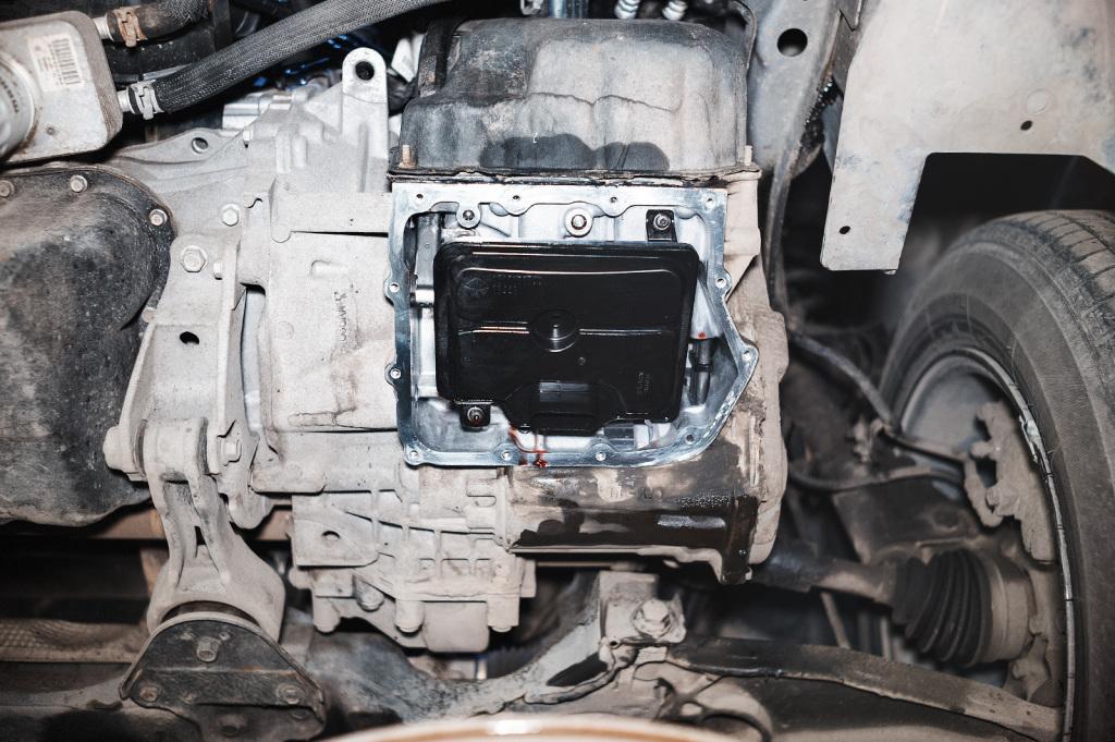 Как заменить масло в акпп додж караван