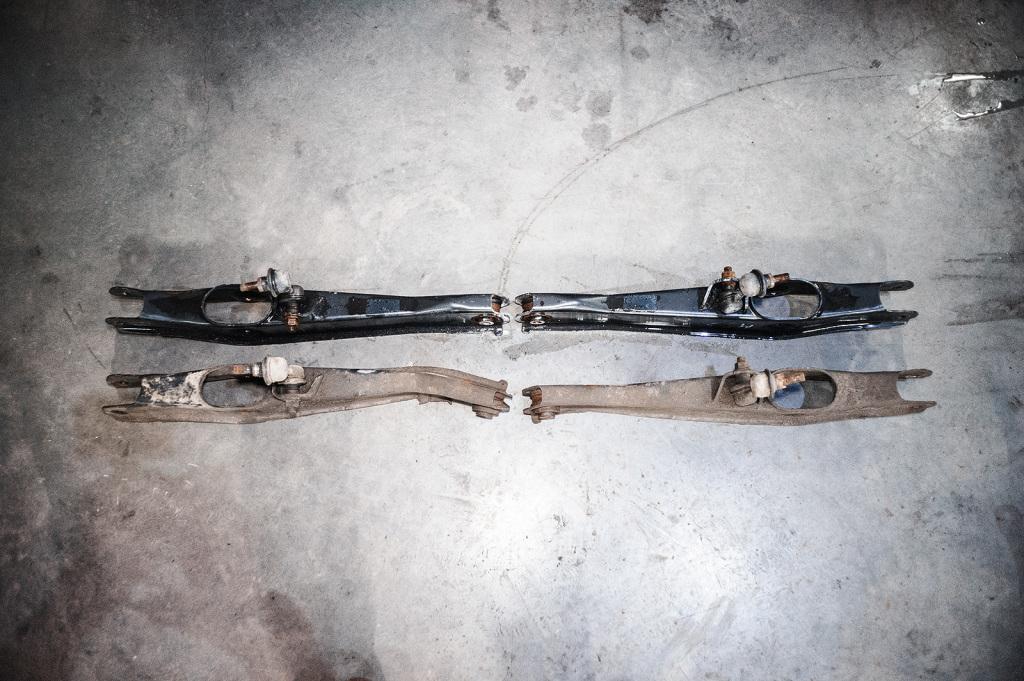 Задние нижние поперечные рычаги Додж Джорни до и после смерти