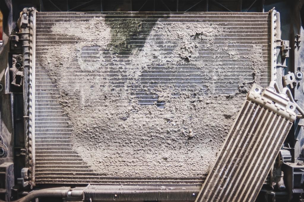 Степень загрязнения радиатора охлаждения