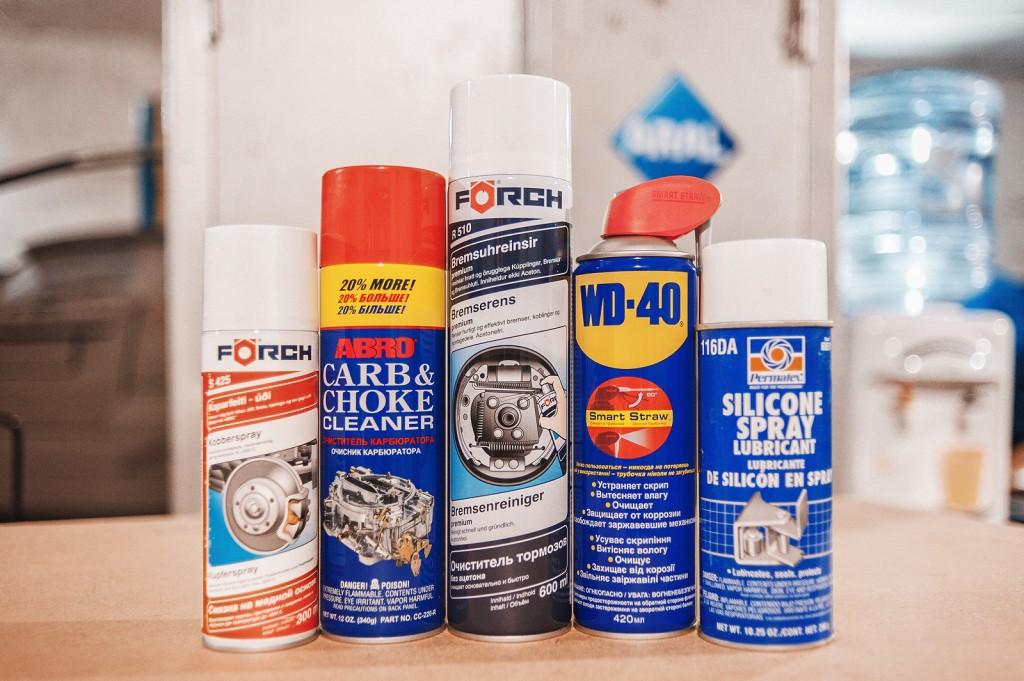 Рабочий набор смазок и очистителей