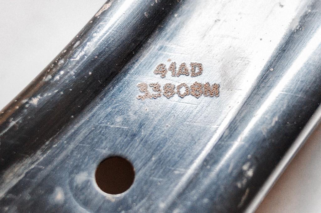 Оригинальная маркировка переднего нижнего рычага