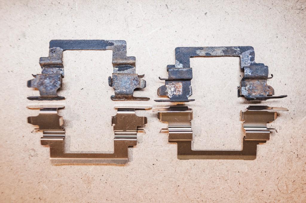 Состояние пружин тормозного суппорта у большинства машин