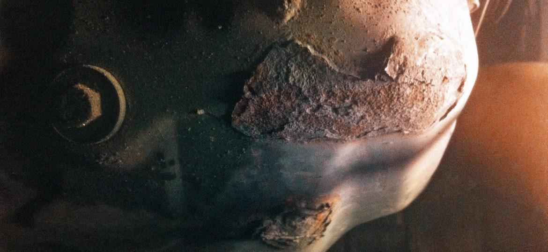 Многочисленные очаги коррозии поддона двигателя Додж Калибр
