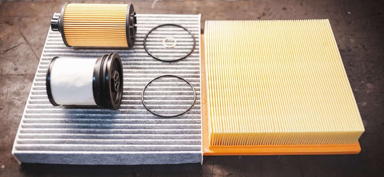Топливный, масляный, салонный и воздушный фильтры