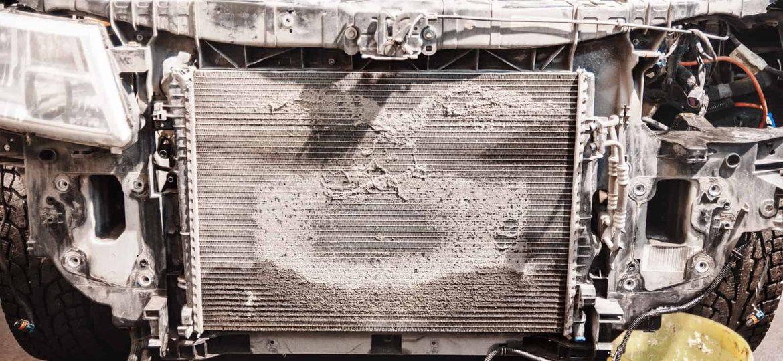 Радиатор Додж Джорни более чем наполовину зарос мхом