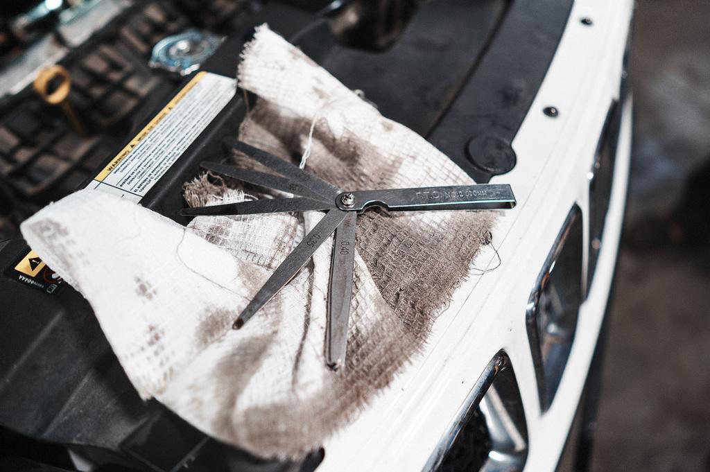 Набор щупов для измерения зазоров клапанов