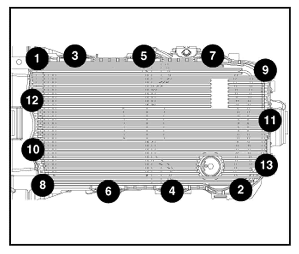 Порядок затяжки болтов АКПП 8HP70 Гранд Чероки